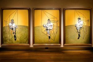 Three Studies of Lucian Freud, by Francis Bacon (1969)